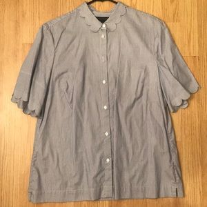 Banana Republic: stripe short sleeve shirt